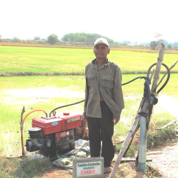Shallow field well in Cambodia