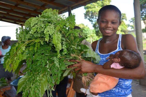 Haiti, greens, baby