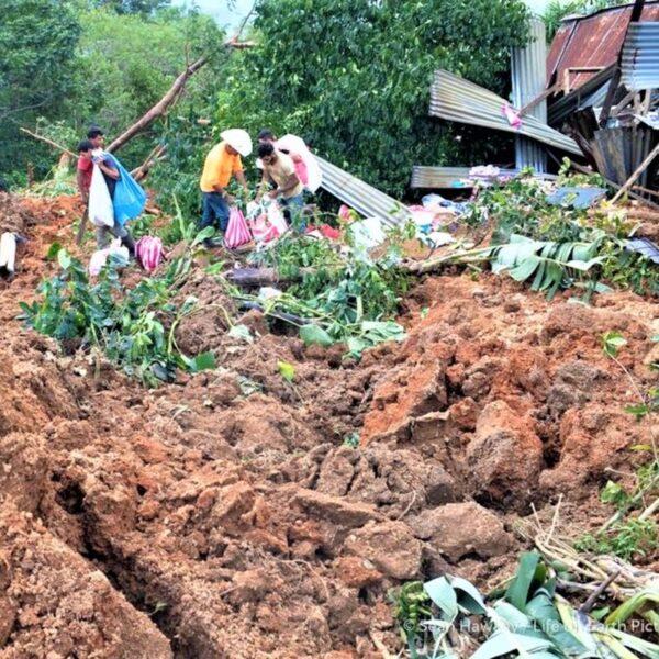 after landslide