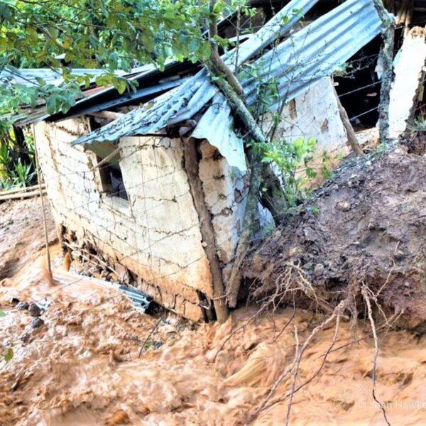 home after landslide